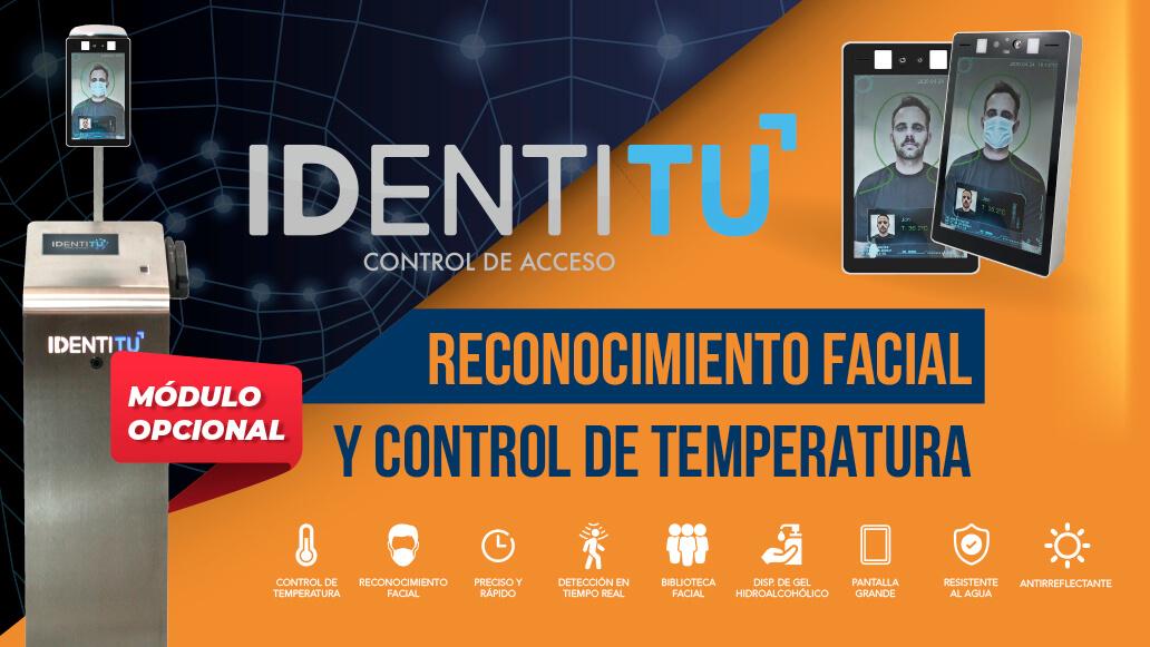 Identitu incorpora una cámara de identificación facial y control de temperatura corporal